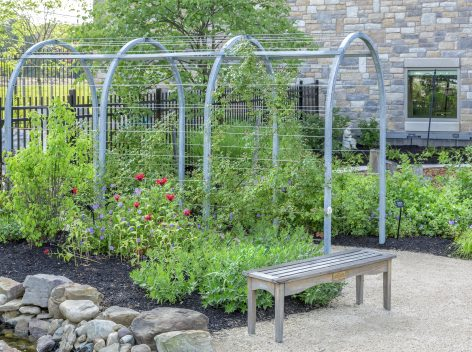 galvanized steel arbor